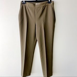 Babaton cropped pants with pockets army green